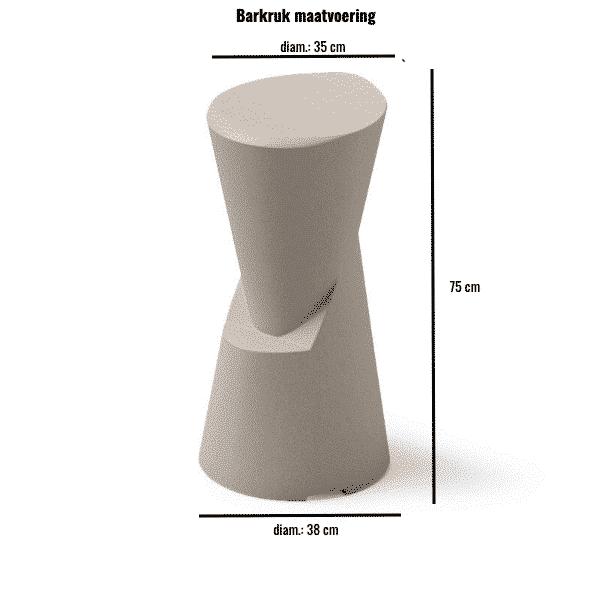 Barkruk maatvoering