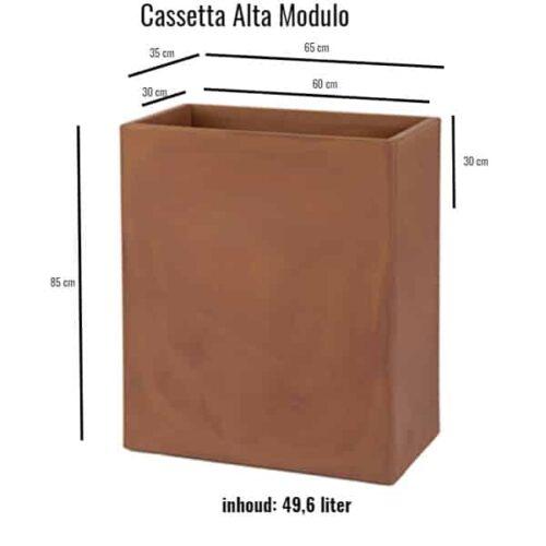 Cassetta Alta Modulo 80