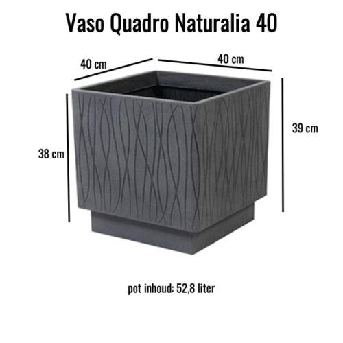 Vaso Quadro Naturalia 40 Grigio ardesia MV