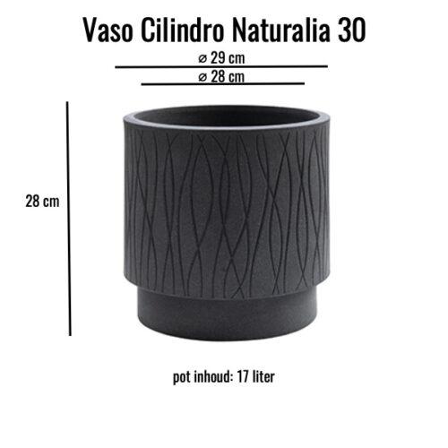Vaso cilindro Naturalia 30 Ardesia MV